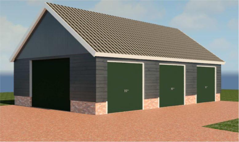 Projecten particulieren bouwadvies schutte den ham for Garage petit noisy
